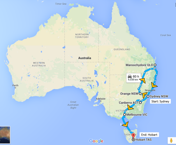 Australia Route Actual Finished