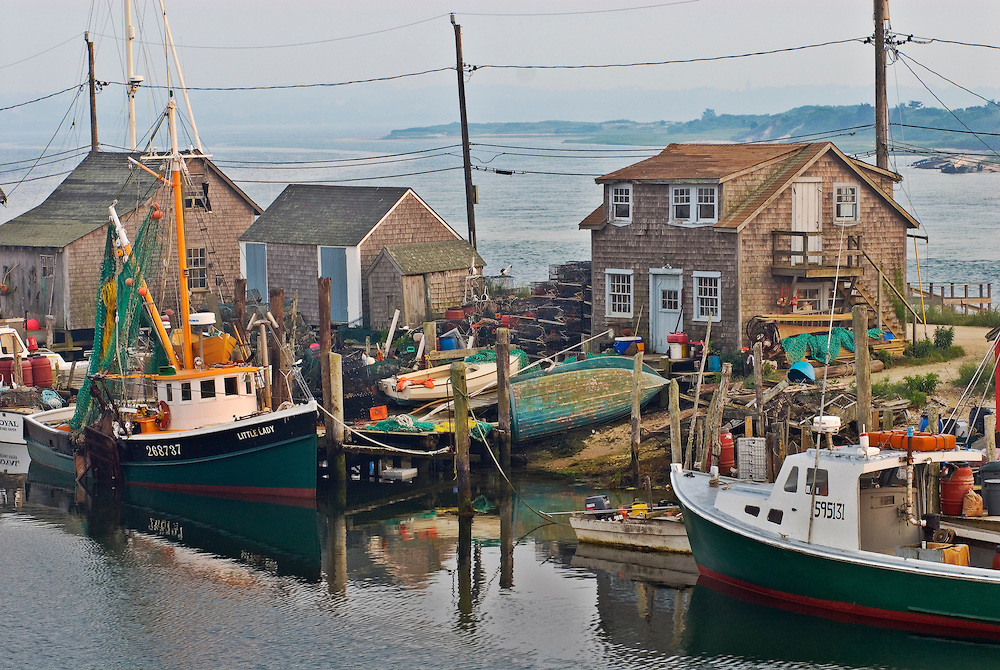 Massachusetts, Martha's Vineyard, Menemsha, harbor