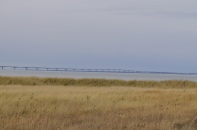The 13-kilometer Confederation Bridge linking New Brunswick to Prince Edward Island