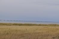 The 13-kilometer Confederation Bridge linking New Brunswick to Prince Edward Island