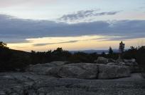 Granite balds atop Mount Champlain in Acadia National Park