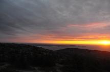 Sunrise atop Cadillac Mountain in Acadia National Park