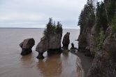 The Hopewell Rocks 'flowerpots' in New Brunswick on the Bay of Fundy