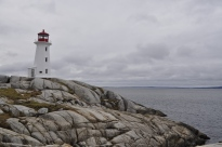 Scenic Peggy's Cove Lighthouse, Nova Scotia