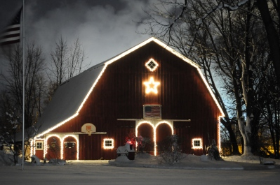 This barn on Main Street in Zeeland expresses the town's rural heritage though the city has grown around it