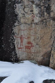 Petroglyphs along Hegman Lake