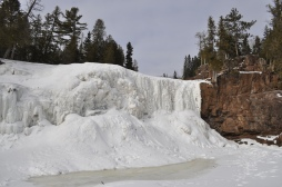 Frozen Lower Gooseberry Falls