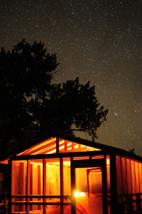Staying in the Bradley Cabin at Sand Wash under the stars