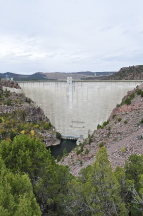 The 450 foot tall Flaming Gorge Dam