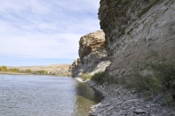 Limestone Cliffs—a great place to rest and look for those evasive marine fossils