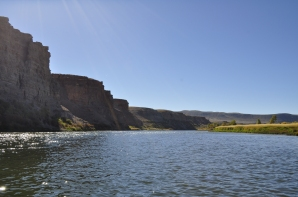 Entering the upper reaches of the Flaming Gorge Reservoir