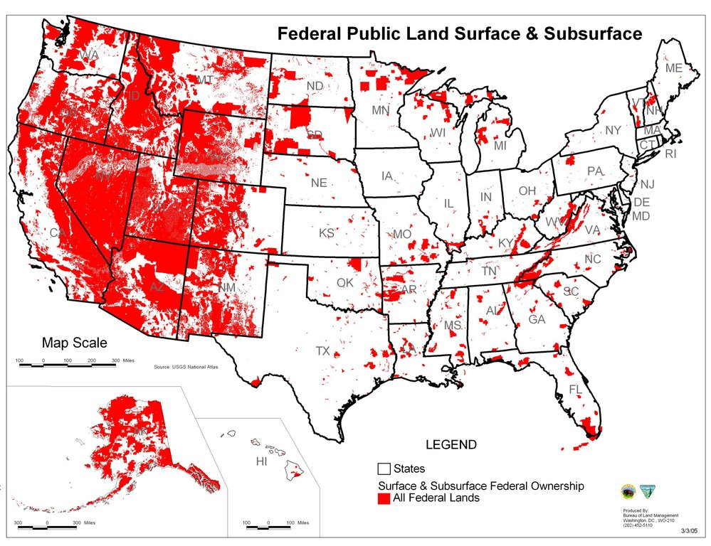 Federal Land Distribution
