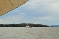 Under sail past the Esopus Meadows Lighthouse
