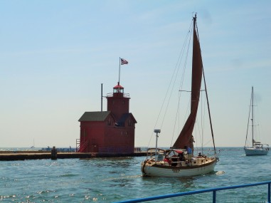 "Holland Harbor's ""Big Red"" Lighthouse"