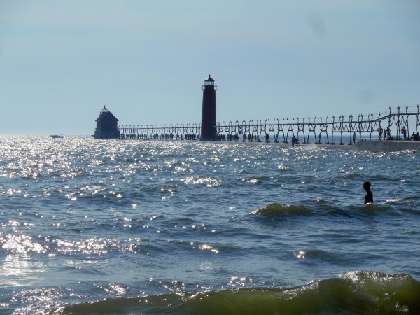 Busy Day at Grand Haven State Park and Lighthouse