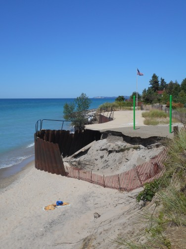 High Water Erosion Damage at Arcadia Beach
