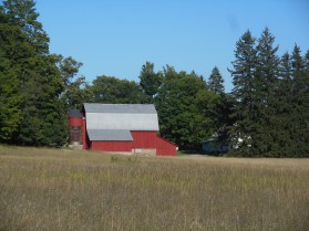 One of many historic homestead barns within the park