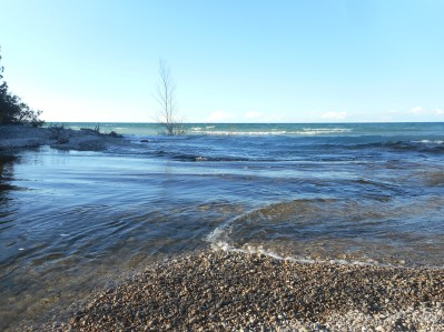 Outlet of Grand Lake draining into Lake Huron