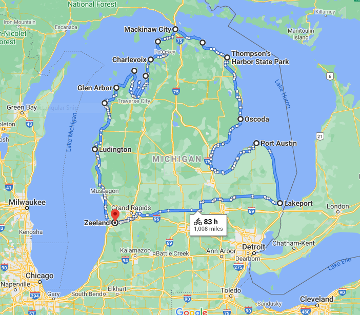 Michigan Bike Route