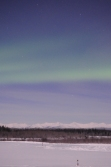 Aurora under a full moon